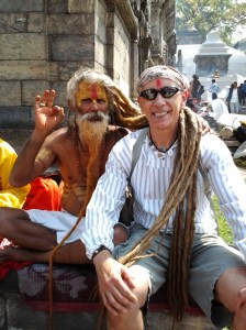 Thousands of Sadhu (Yogi) and Naga Sadhu (naked Yogi) come to the Maha Shivaratri festival in Pashupatinath. This Yogi blessed me with a red bindi (dot) which has multiple meanings, but in this instance - it bestows long life for me.
