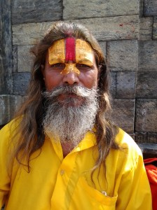 The 3rd Sadhu who posed for a photograph.