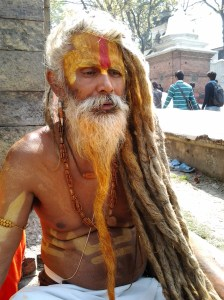One of the three Sadhu who posed for photographs with me.
