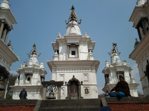 Shrines at Pashupatinath Temple.