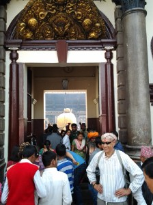 This is as close as I got to the Golden Bull, since non-Hindus are not allowed in this inner sanctum of the Pashupatinath Temple.