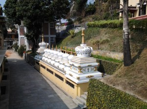 Stupas. These usually house ancient relics of the Buddhist faith.