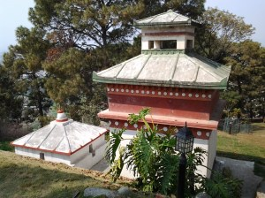 One of the monastery temple buildings.