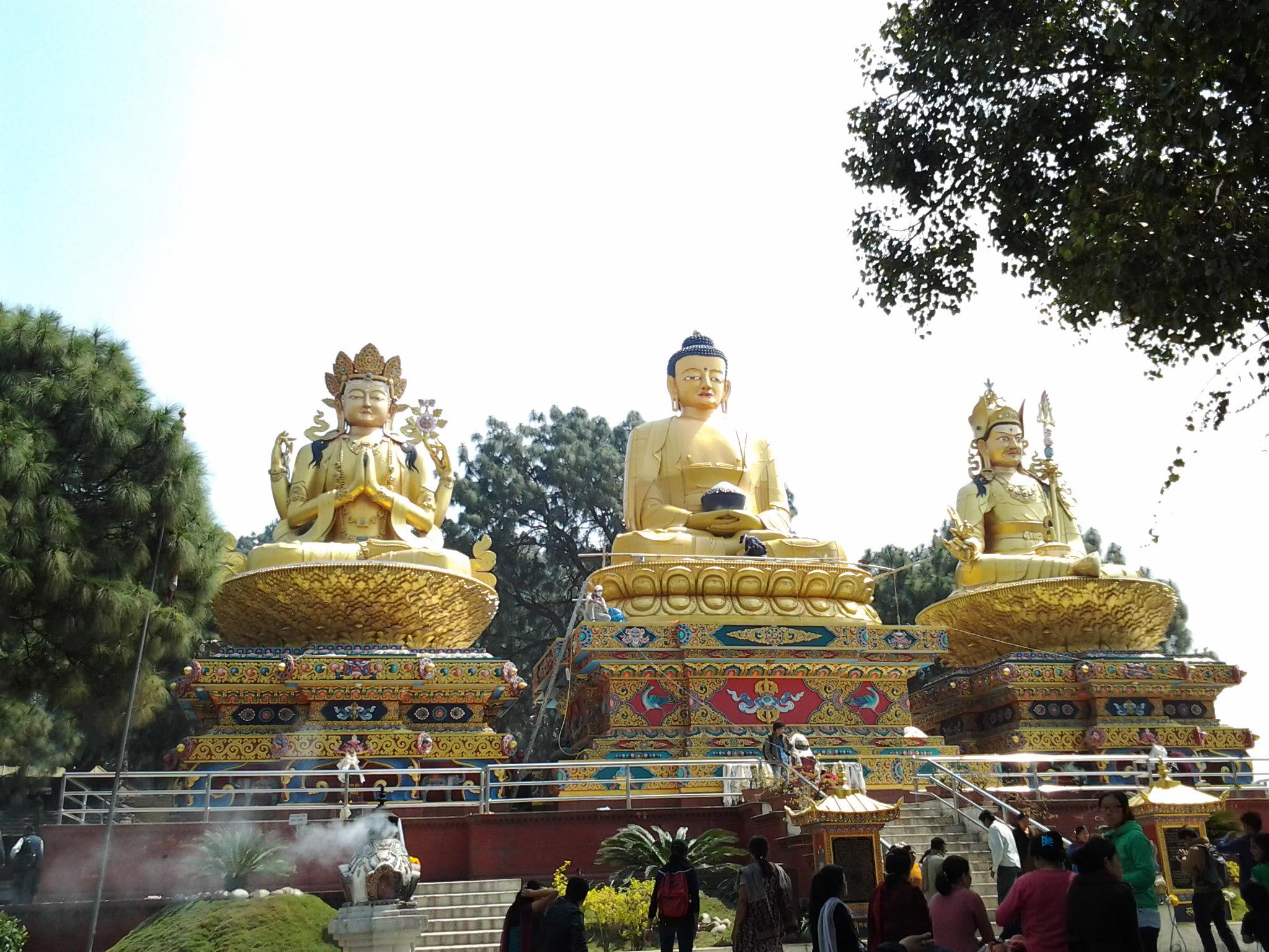 stupa of Swayambhu and the Park of the Three Buddhas