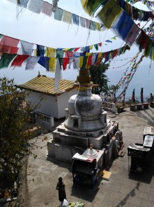 Stupa viewed from the metal platform.