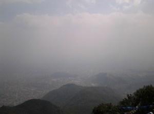 View from the peak of Mt. Shivapuri.
