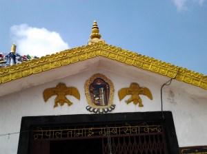 Roof line of shrine.