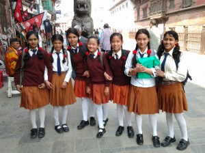 These school girls were likely on a field trip and were very gracious in allowing me to photograph them.