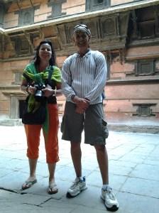 Ursina and I inside the palace court yard.
