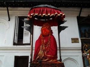 A close up of the monkey god, Hanuman.