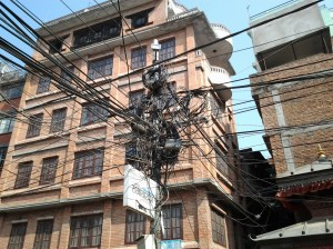 """Now I know why they have power outages . . . Imagine you're an electrician and you have to figure out this """"spaghetti"""" mess."""