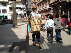 Another photo of this guy carrying what I swear was at least a couple of hundred lbs.