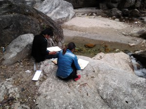 These artists, along with a couple of others we saw further down river were enjoying a beautiful day by painting the bucolic river and surrounding park.