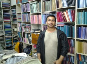 Mr. Khanal, the owner of the store.