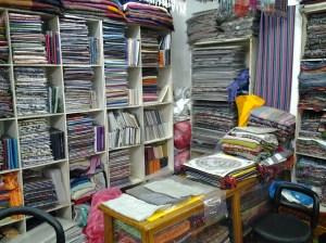 Inside the Friendly Pashmina Store.