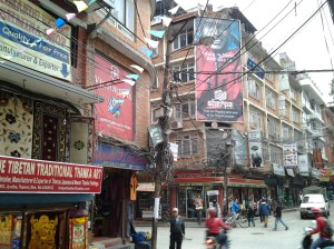Thamel. This is the preeminent tourist shopping area of Kathmandu.