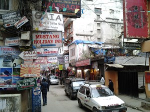 Finding anything in Thamel is quite difficult due to the streets being unmarked for the most part.
