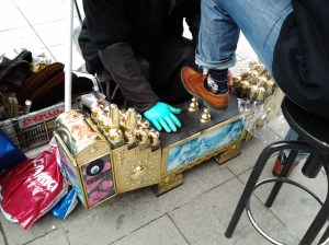 I wear sneakers, but if you need a shoe shine, they have that at the Grand Bazaar too.