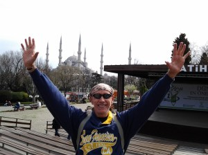 I finally found the Blue Mosque. Victory was hard fought, as I went to at least a half dozen other mosques, various tombs for Sultans and other rich folk, and stumbled into the Grand Bazaar as well. Are you reading this Ali?