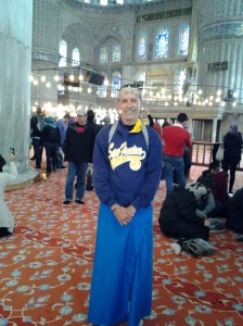 I was quite the fashion statement inside the mosque.