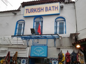 Turkish bath house. The building has stood for 600 years and apparently, the family which owns this bath house has operated it since the 18th century. Wow!