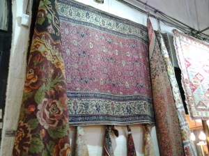 """Turkish and Persian rugs. Don't even glance at the rugs . . . or, expect to be given a treatise on the different types and qualities of rugs and/or given a """"quick"""" ride to their warehouse. AAAAAAAAGGGGGGHHHHH!!!!"""