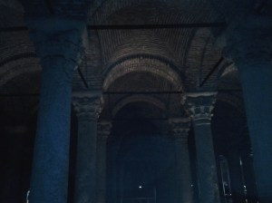 The cathedral size Basilica Cistern.