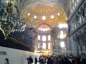 I have seen some impressive buildings in my life, but the Hagia Sophia is awe inspiring. A magnificent building that was the largest  cathedral in the world until the construction of the medieval Seville Cathedral in 1520.
