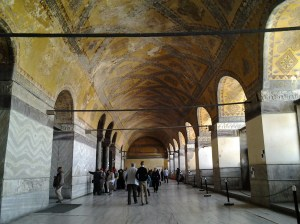 Upper floor, where there were not many tourists.