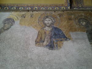 Beautiful Christian mosaic (camera flashes were not allowed in this area).