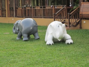 Whimsical elephants.