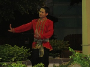 Thai dancer performing a traditional Thai dance at the restaurant I went to, which had entertainment while I was eating dinner.