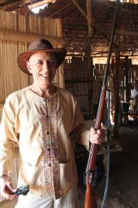 The first village we stopped in had this rifle. It was so old that I had no idea if it even would shoot or would explode in your hands.