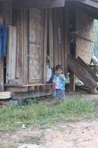Small child in village we spent the night at.