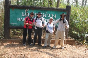 Cheryl, Mark, Klaus, and I. We all are smiling because we have completed the trek and we know a nice hot shower and soft bed awaits us.