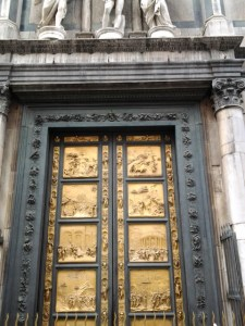Speaking of copies, this Gate Of Paradis door is not the original. The original is located at the Accademia Gallery and is made of real gold.