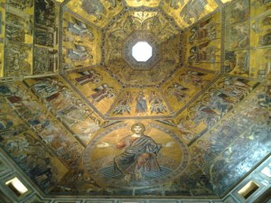 Your breath is taken away by the beauty of Baptistery ceiling (Duomo).