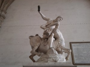 Hercules slaying the Centaur.