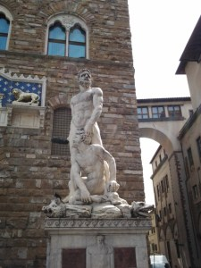 Hercules slaying Caccus.