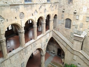 Courtyard of Bargello Museum. For a former barracks and prison, this is pretty fancy.