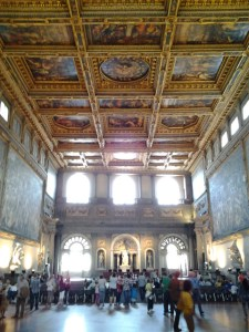 This unbelievably large hall is called Salone dei Cinquecento.