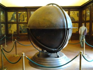 Map room. The globe is ruined due to too many restoration cleanings. However,, the maps along each of the four walls were fascinating and gives a historical perspective of what 15 century Italians knew of the world.