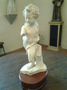 This is titled Putto (child) by Michelangelo. However, I am not certain it is the one and only Michelangelo or someone else with a similar name. See the next photo of the caption card and if you know different, let me know.