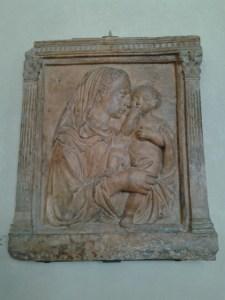 Donatello relief sculpture.