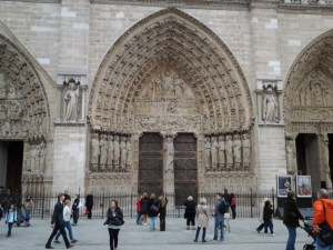 One of the 3 front entrances into the cathedral.