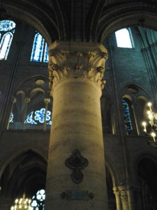 One of the unbelievably large columns interspersed around the cathedral.