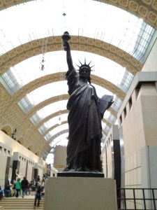 This is the 2nd Statue Of Liberty I've seen in France. The other one is mounted at the Seine River.