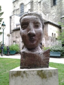 Unbelievable - Angie and I are heading to the Luxembourg Palace and we come across this non-descript small church with a Picasso sculpture in the church's garden/courtyard area. Amazing what you come across, huh?