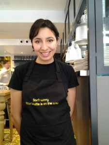 Laura, the waitress who served me. Her and I were chatting for about 10 minutes before her restaurant got really busy. It must be a popular place because they were packed. Her boyfriend, Antoine owns and manages this stylish restaurant. Their facebook address is facebook.com/galettecafefamily