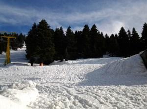 Ski resort in Bursa, Turkey.